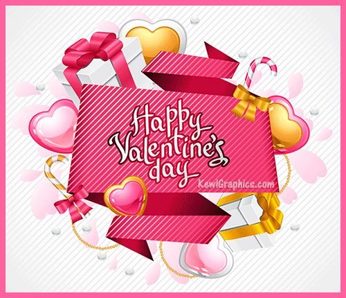 Happy Valentines Day Gifts And Hearts Graphic Plus Many Other High