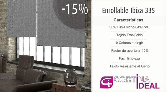 Estores screen Ibiza 335 en CortinaIdeal