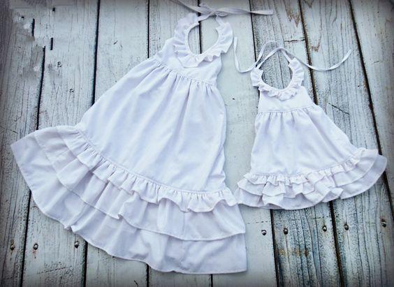 2016 summer girls long ruffle dresskids girls white cotton maxi ...
