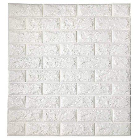 Superdeal Brick Wall Stickers Self Adhesive Panel Decal Pe Wallpaper Pe Foam Self Adhesive Brick Pattern Soft Pack Tv Sofa Background Living Room Decoration 31 Brick Wall Paneling Vinyl Wall Panels White