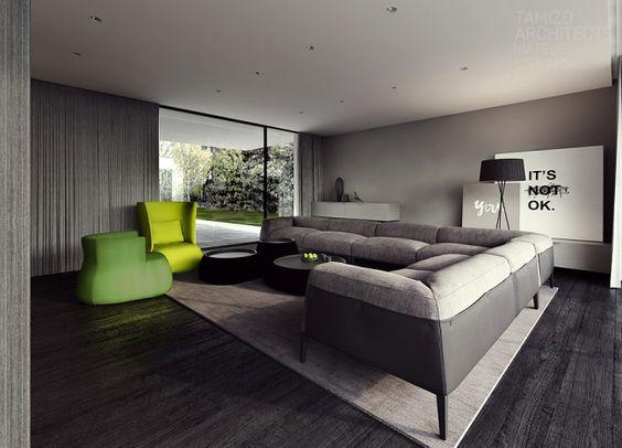 ... Interieur en noir et blanc  Photos, Interieur et Décoration
