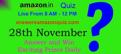 Daily Quiz Answer Amazon Quiz 28 November Win Rs 15 000 Quiz Harvard Students Answers