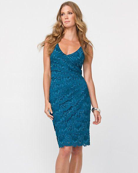 Lace Starburst Cocktail Dress