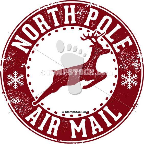 North Pole Postmark | North Pole Stamp Clip Art Stamp clip art. north ...