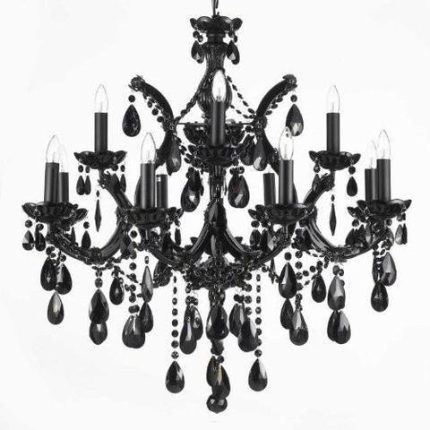 Jet Black Chandelier Crystal Lighting 30x28 A83 Black 21532 12 1 Black Crystal Chandelier Black Chandelier Crystal Lighting