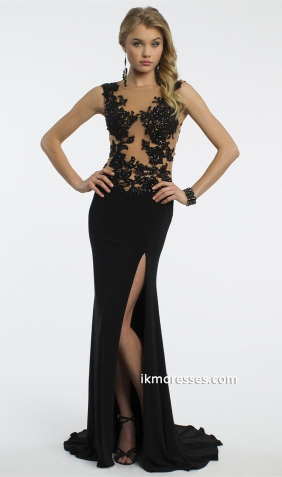 http://www.ikmdresses.com/Jersey-Lace-Dress-with-Illusion-Back-and ...