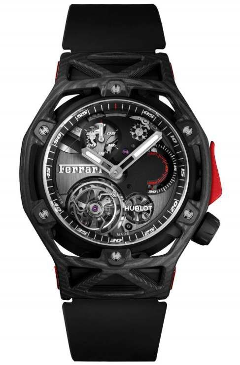 Hublot Techframe Ferrari Tourbillon Chronograph Ref. 408.QU.0123.RX
