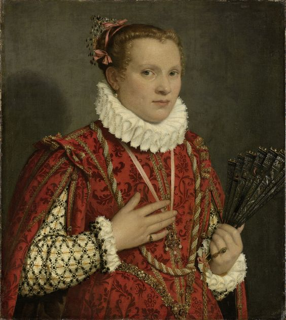 Portrait of a young Woman by Giambattista Moroni, 1560-1578. Rijksmuseum, Public Domain: