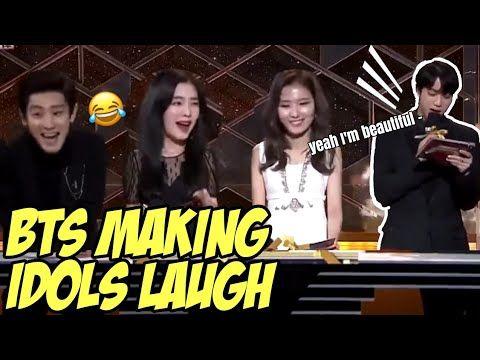 Bts Making Idols Laugh Bts Funny Moments Youtube Bts Funny Bts Funny Moments Funny Moments