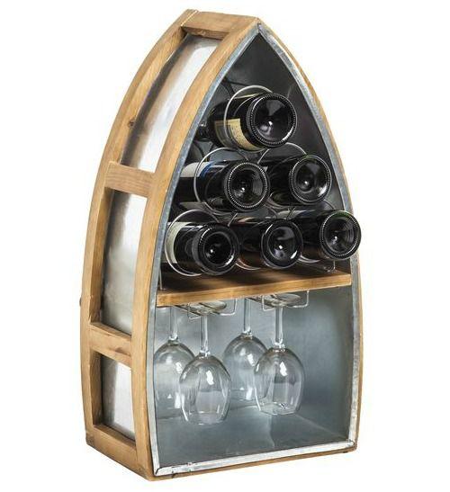 Decorative Coastal & Nautical Wine Bottle Racks: http://www.completely-coastal.com/2016/03/wine-bottle-racks-coastal-nautical.html