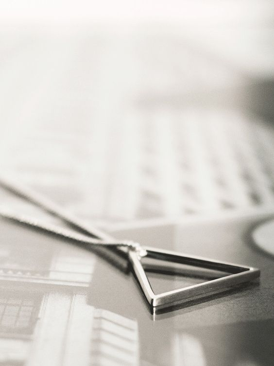 colar masculino triângulo acessórios masculinos jóias de bancada prata 950