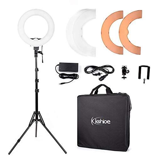 Kshioe Dimmable Continuous Photography Smartphone In 2020 Led Ring Light Led Ring Photo Studio Lighting