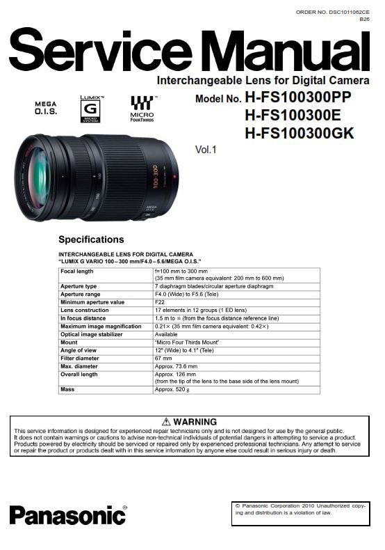 Pin On Panasonic Lumix Camera Service Manual