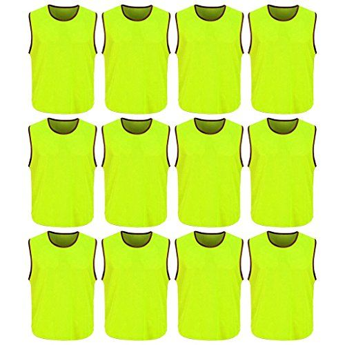 Dh Mens Soccer Sports Team Practice Pinnies Scrimmage Training Mesh Vests 12 Pcs Pack Details Can Be Found By Clickin Sport Soccer Mens Soccer Sports Team