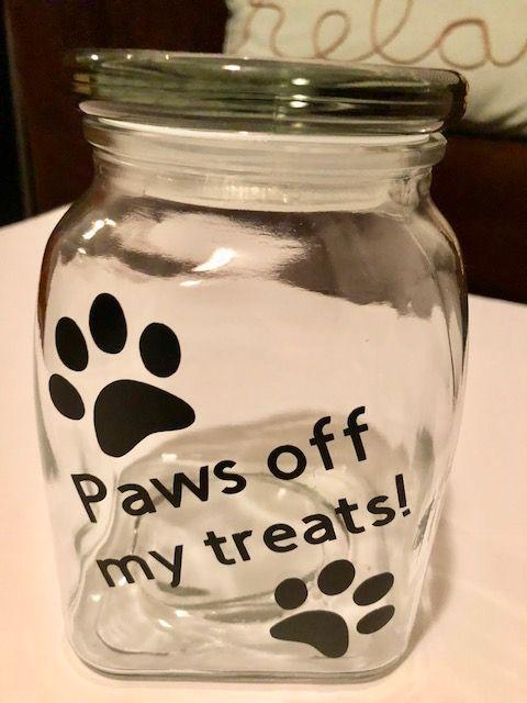 Easy Cricut Craft Diy Dog Treat Jar Dog Treat Jar Dog Treat