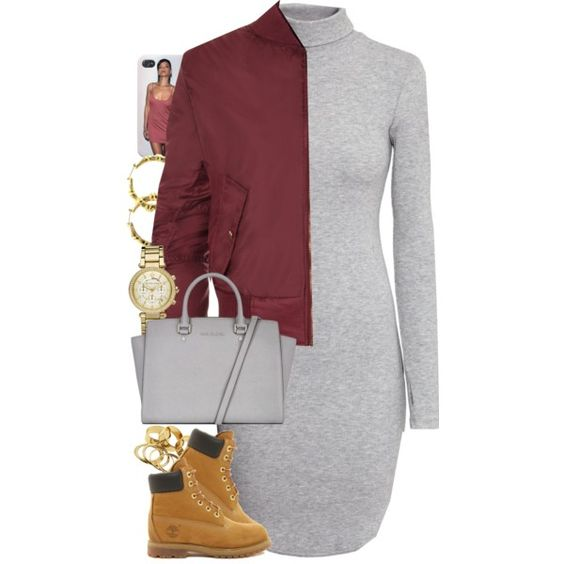 Untitled #1422 by power-beauty on Polyvore featuring polyvore fashion style H&M WearAll Timberland MICHAEL Michael Kors Michael Kors Fergie