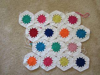 Miss Muggins: Crochet Hexies are looking beautiful : #mycreativespace