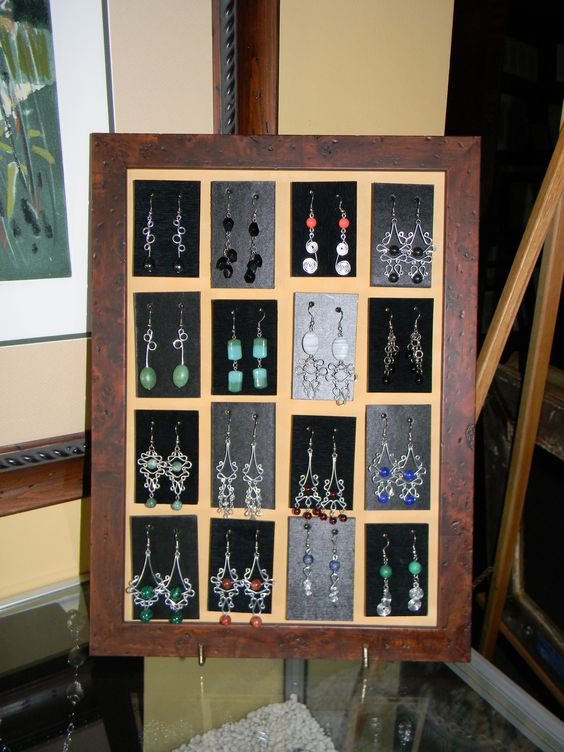 Handmade Earrings...display!
