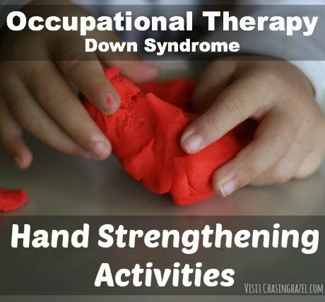 http://chasinghazel.com/2014/10/hand-strenthening-ot-down-syndrome.html 2 Occupational Therapy Activities that promote muscle development in the hands. I do them with my daughter who has Down syndrome.