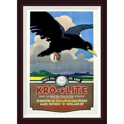 Global Gallery Kro-Flite by Unknown Framed Vintage Advertisement