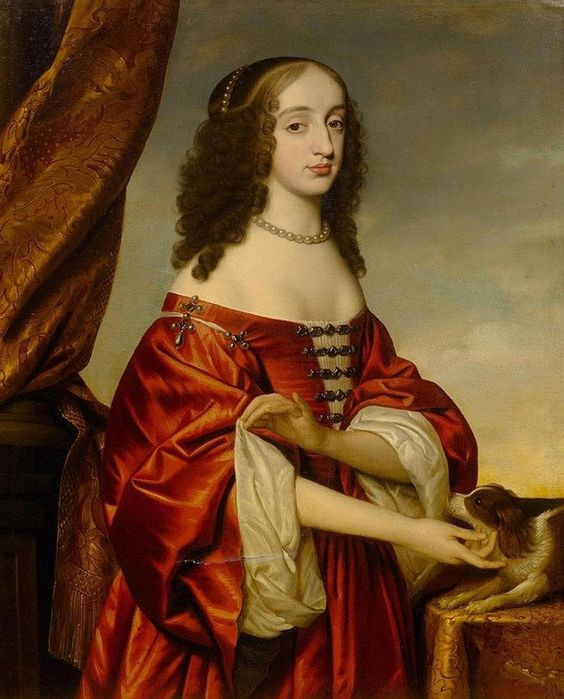 Henrietta Maria of France, Queen of England (1609-1669) by Michael Dahl (on auction by Koller Auctions) From invaluable.com: