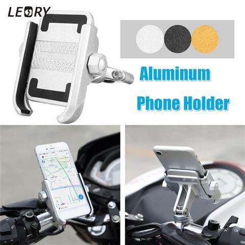 Universal Bike Motorcycle Aluminum Phone Handlebar Mount Cell Phone Holder