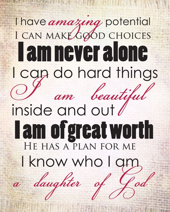 You are a daughter of God!