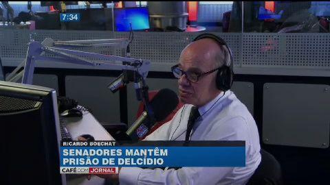 O jornalista Ricardo Boechat fala da prisão de Delcídio do Amaral, líder do PT no Senado, e mostra a gravação de esquema de fuga feita pelo filho de N...