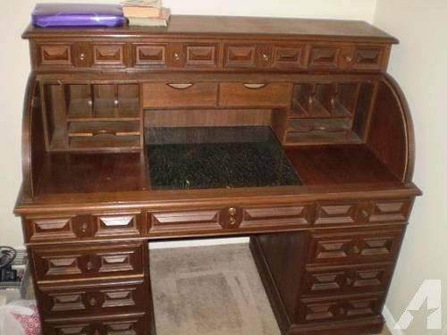Teak Roll Top Desk For Sale In Tulsa Oklahoma Classified Home Is Where