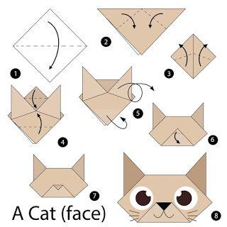 صور مطويات 2021 اشكال مطويات بالورق الملون Origami For Kids Animals Origami Cat Origami Bookmark