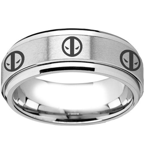 Coi Tungsten Carbide Deadpool Wedding Band Ring Tg2261aa Wedding Ring Bands Rings Wedding Bands