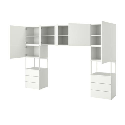 Ikea Armadio 2 Ante 2 Cassetti.Platsa Guardaroba Con 2 Ante E 3 Cassetti Bianco Fonnes Bianco