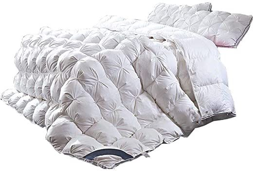 Jo Bedding White Down Comforter 100 Cotton Breathable Fabric Hypoallergenic 95 Goose Down Filling Win White Down Comforter Down Comforter White Bedding