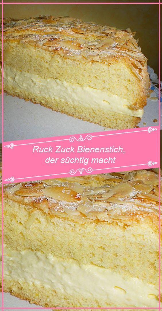 Ruck Zuck Bienenstich Der Suchtig Macht Rezepteblog Net In 2020 Kuchen Rezepte Einfach Kuchen Und Torten Rezepte Bienenstich Rezept