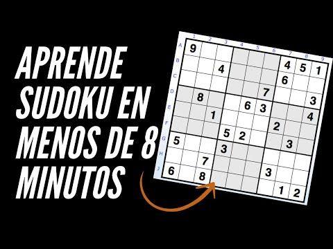Cómo Resolver Un Sudoku En Menos De 8 Minutos Nivel Fácil Tutorial La Posición única Youtube Sudokus De 8 Acertijos