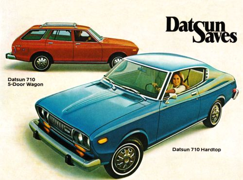 Detail from 1975 Advertisement for Datsun