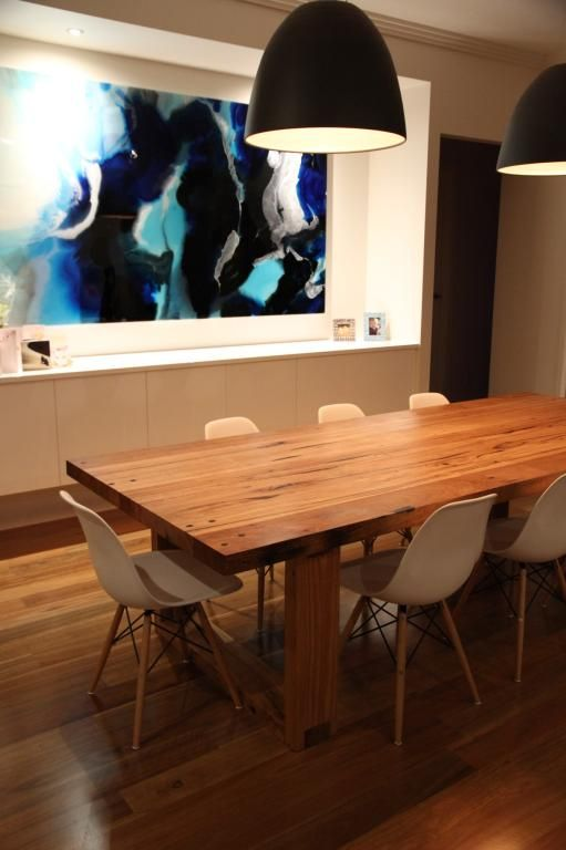 Southside dining table  recycled Messmate timber  Bombora