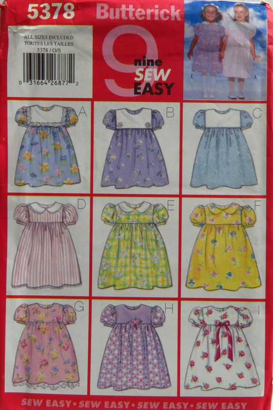 Butterick 5378 Toddlers' Dress