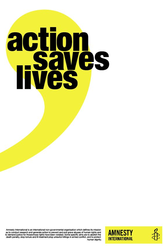 Amnesty International poster #amnestyinternational