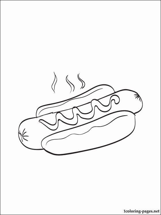 Hot Dog Coloring Page Awesome Hot Dog Coloring Page Coloring Pages Hot Dog Coloring Dog Coloring Page Puppy Coloring Pages Coloring Pages