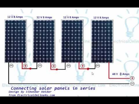 How To Wire Solar Panels In Series Urdu Hindi Solar Panels Best Solar Panels Solar Heating