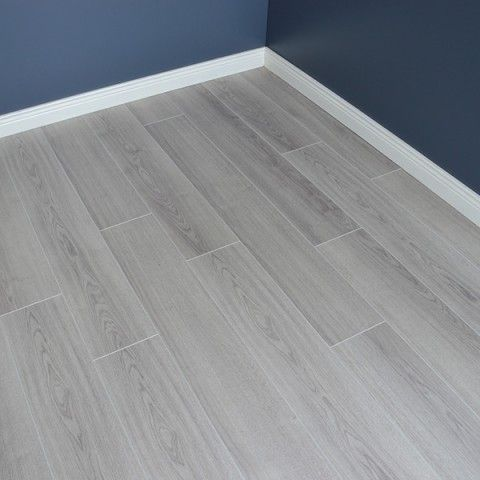 Oak Light Grey Laminate Flooring