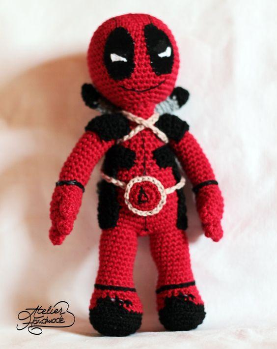 Deadpool Knitting Pattern : Free crochet pattern for deadpool. Amigurumi free pattern for DeadPool croc...