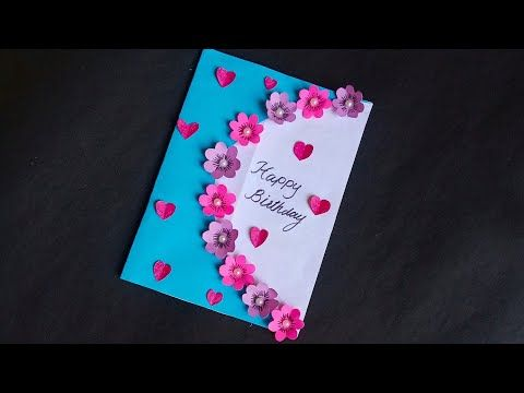 Diybirthdaycard Youtube Homemade Anniversary Cards Diy Greeting Cards For Birthday Happy Anniversary Cards