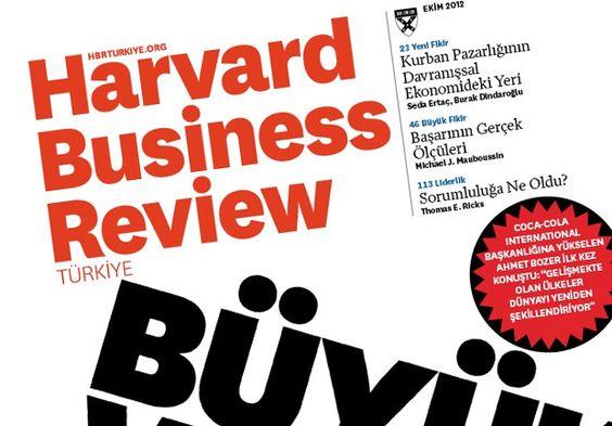 Harvard Business Review dergisi Türkiye'de #HBR #HBRT #Harvard #HarvardBusinessReview