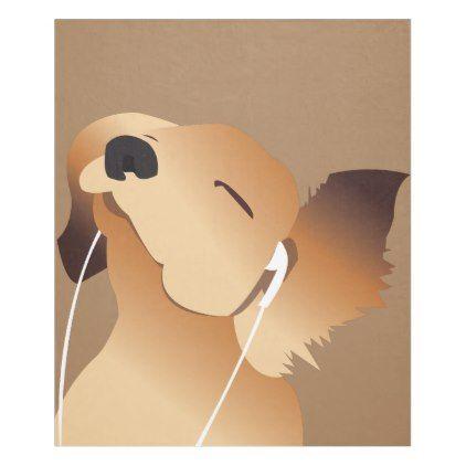 Jammin Puppy Dog Fleece Blanket Zazzle Com Dog Fleece Dog