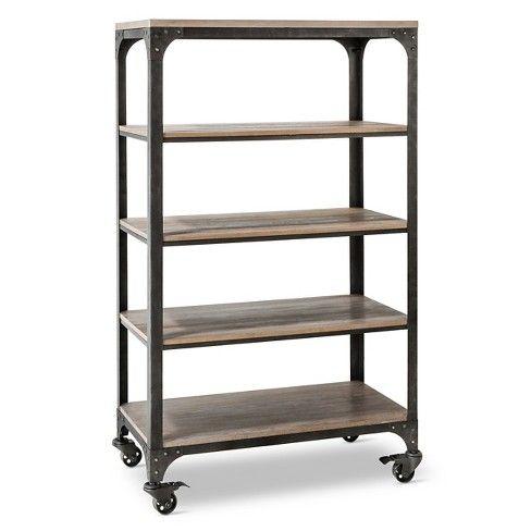 Franklin 5 Shelf Bookcase Target 4 Shelf Bookcase Industrial
