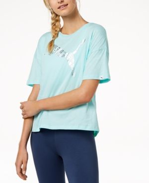 Puma dryCELL Printed Logo T Shirt Blue L (With images