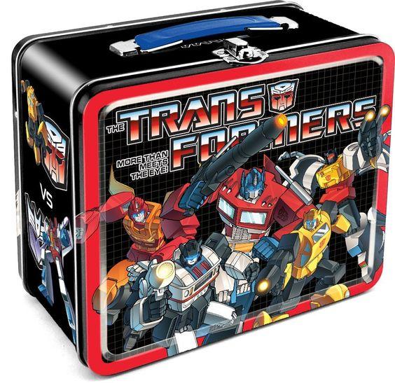 Amazon.com: Aquarius Transformers Autobots vs Decepticons Tin Lunch Box: Toys & Games