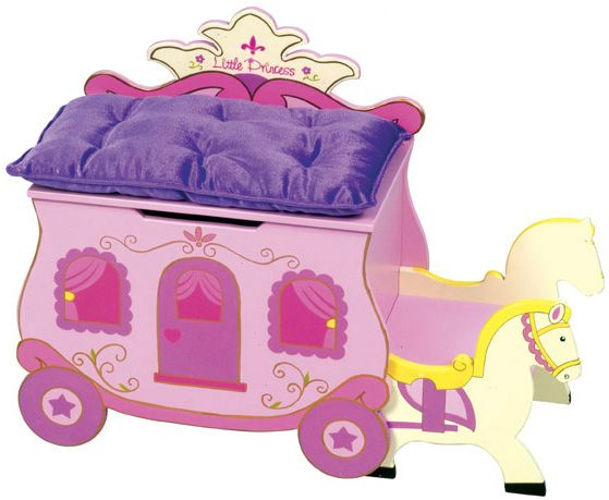 Princess Carriage Toy Chest And Bench Ups 174 Free Shipping